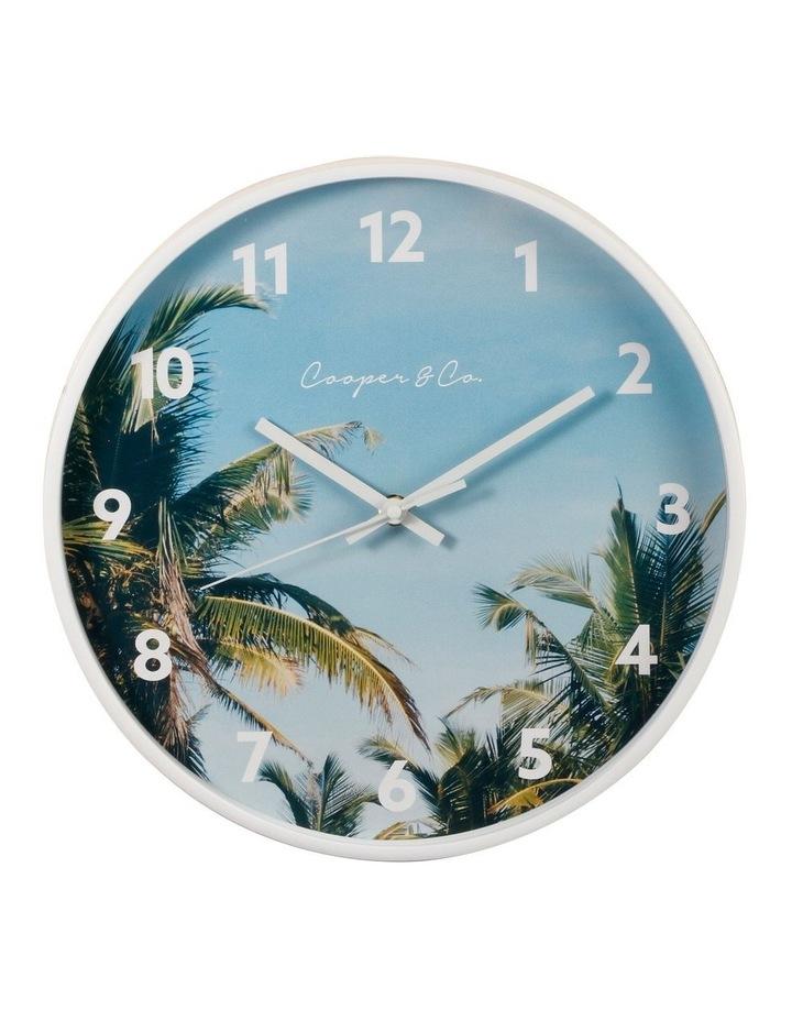 30cm Dark Blue Miami Silent Movement Round Wall Clock image 1
