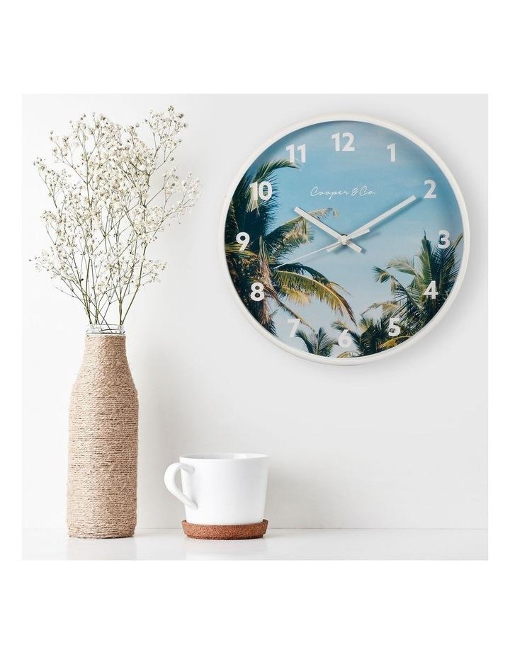 30cm Dark Blue Miami Silent Movement Round Wall Clock image 2