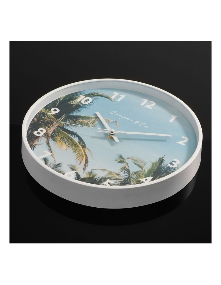 30cm Dark Blue Miami Silent Movement Round Wall Clock image 3