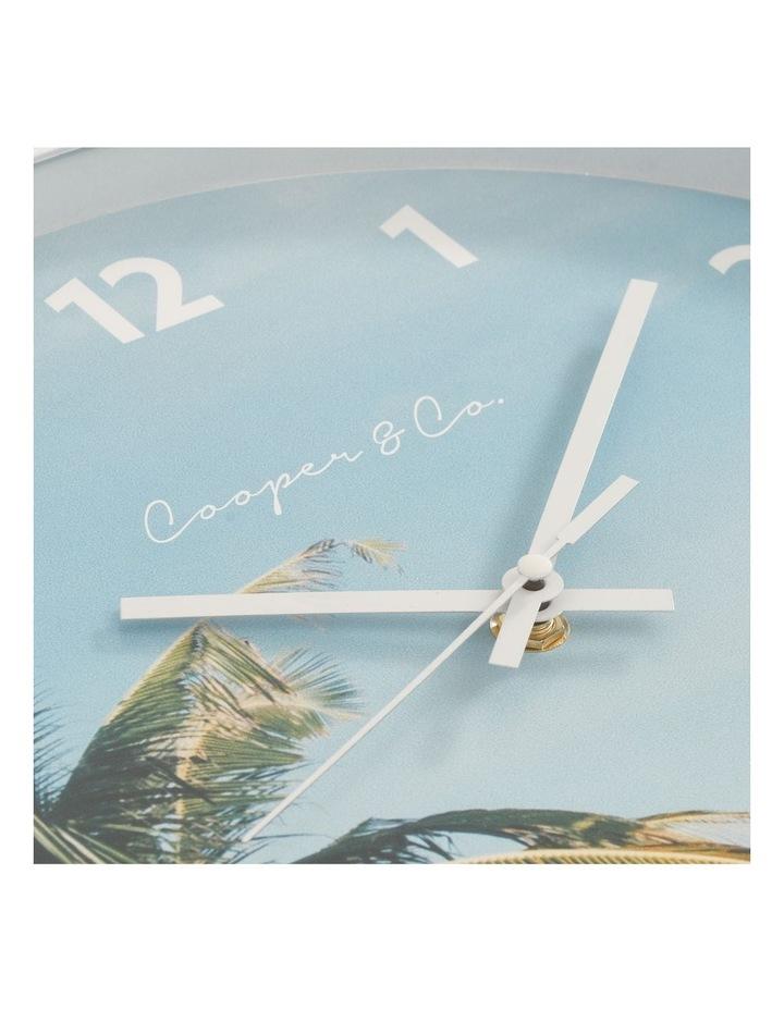 30cm Dark Blue Miami Silent Movement Round Wall Clock image 4