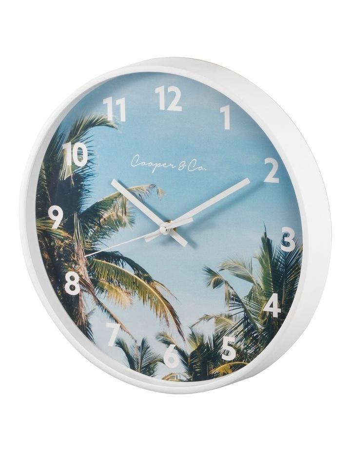 30cm Dark Blue Miami Silent Movement Round Wall Clock image 5