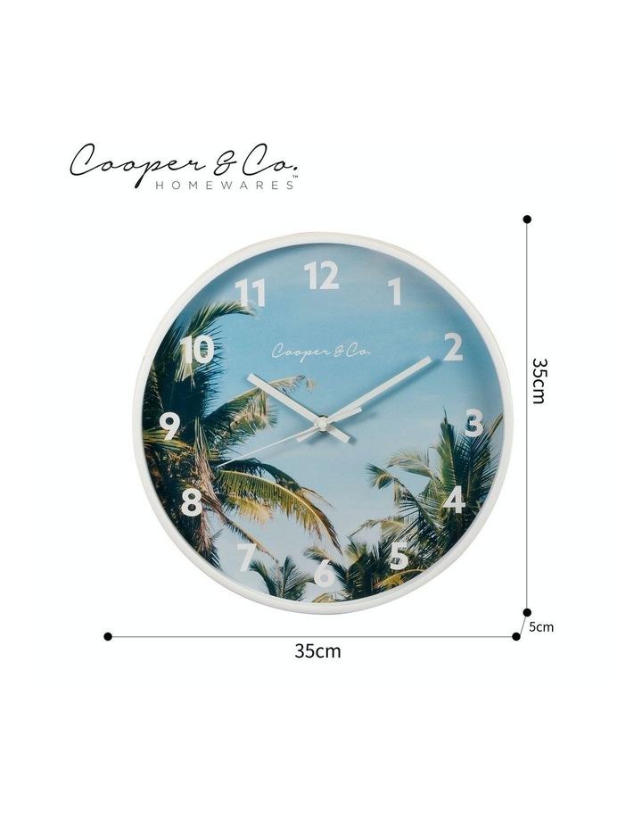30cm Dark Blue Miami Silent Movement Round Wall Clock image 7