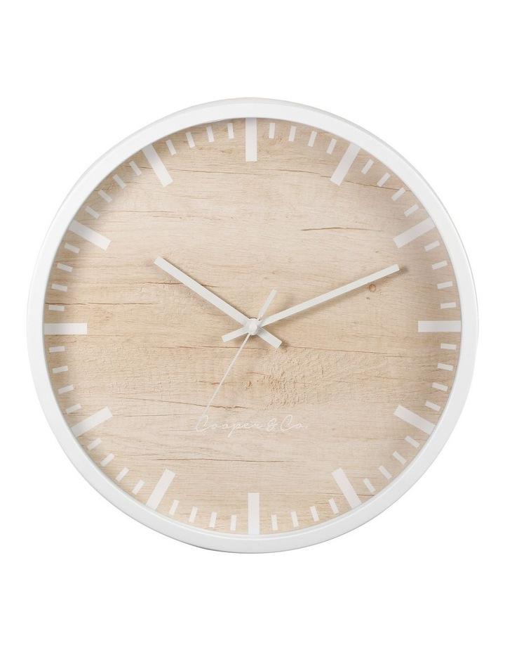 35cm White Solomon Silent Movement Round Wall Clock image 1