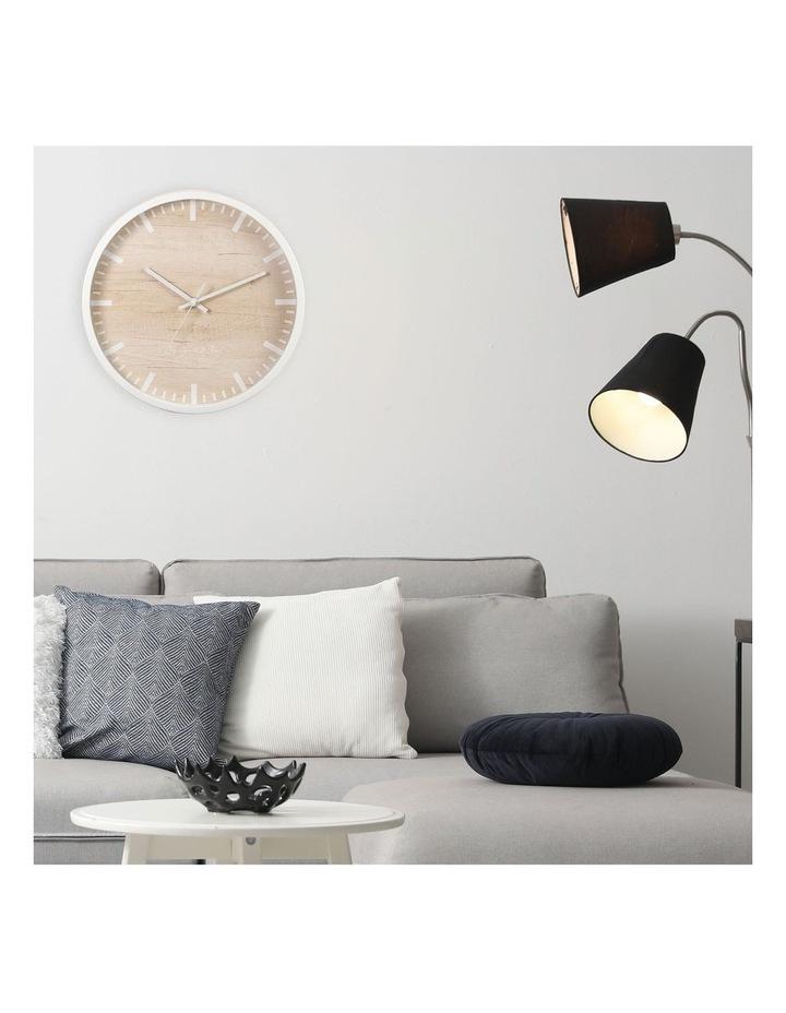 35cm White Solomon Silent Movement Round Wall Clock image 2