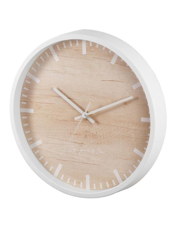 35cm White Solomon Silent Movement Round Wall Clock image 4