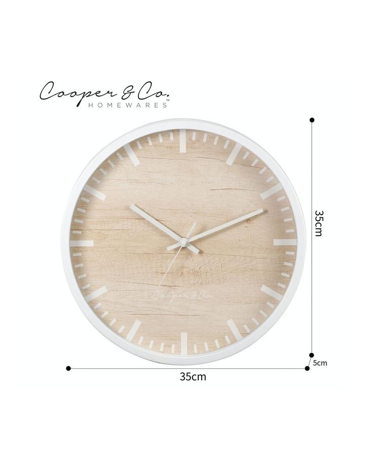 35cm White Solomon Silent Movement Round Wall Clock image 7