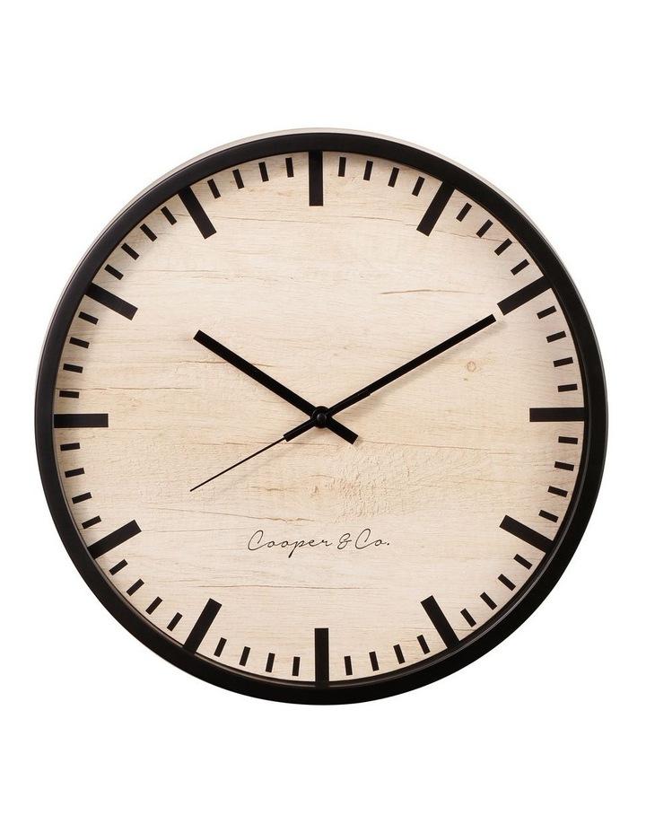 35cm Black Solomon Silent Movement Round Wall Clock image 1