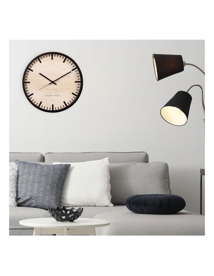 35cm Black Solomon Silent Movement Round Wall Clock image 2