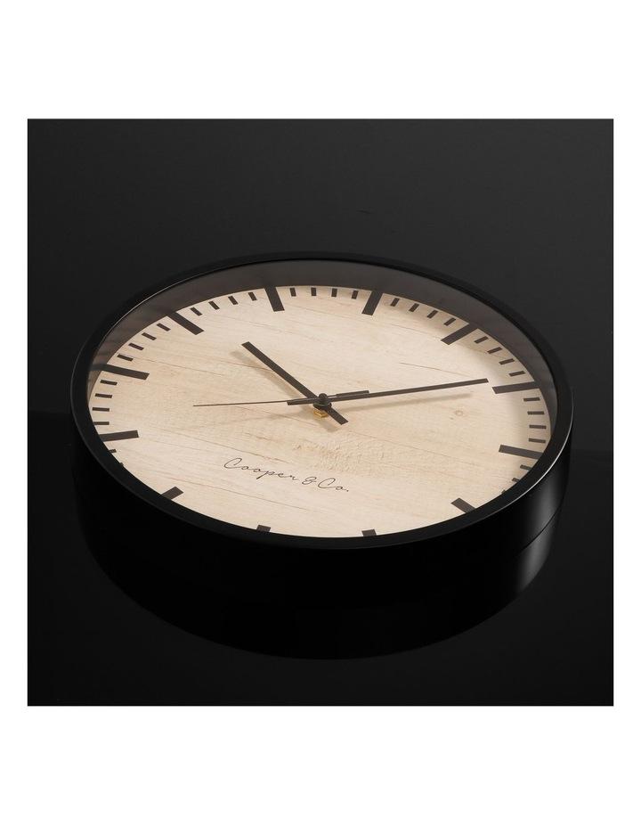 35cm Black Solomon Silent Movement Round Wall Clock image 3