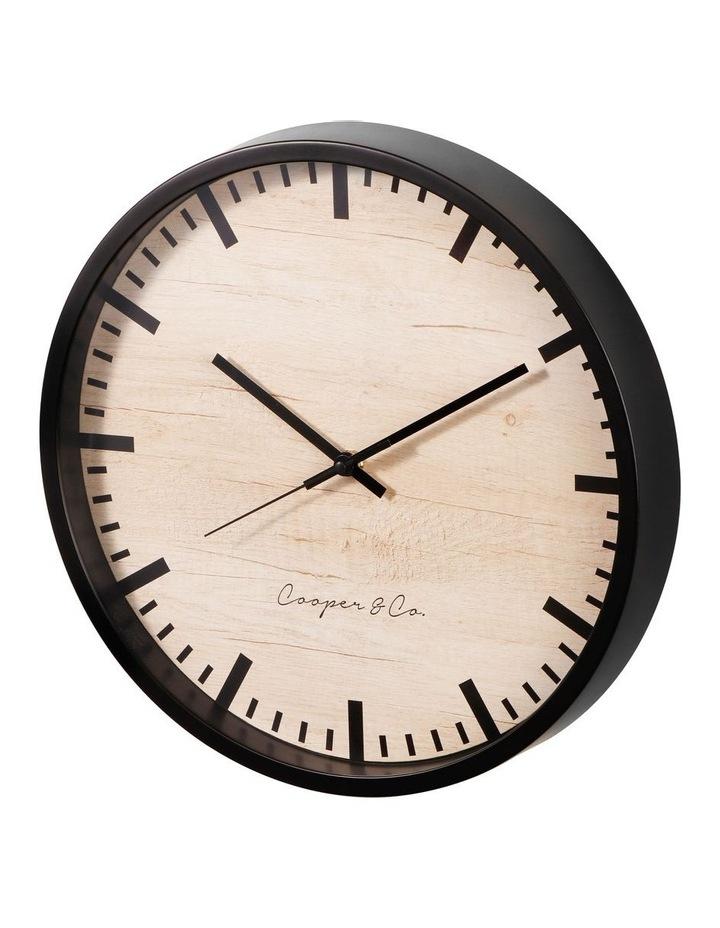 35cm Black Solomon Silent Movement Round Wall Clock image 4