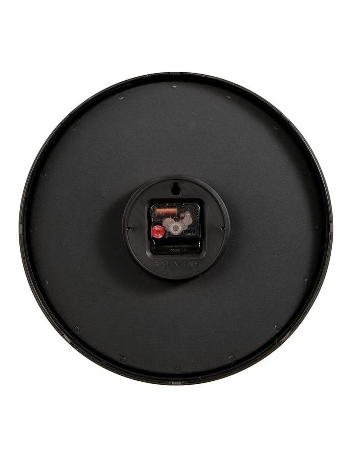35cm Black Solomon Silent Movement Round Wall Clock image 6