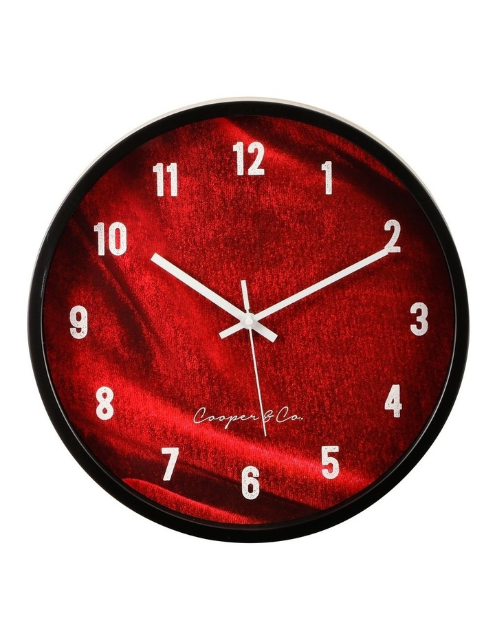 35cm Burgundy Vogue Silent Movement Round Wall Clock image 1