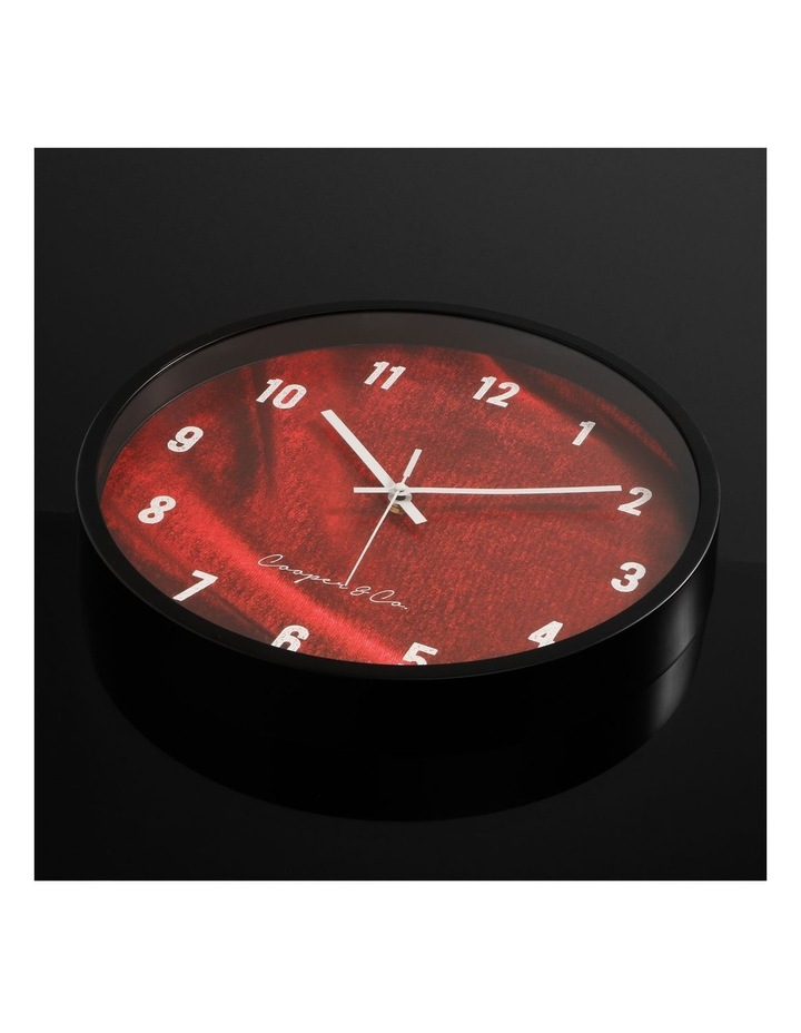 35cm Burgundy Vogue Silent Movement Round Wall Clock image 3