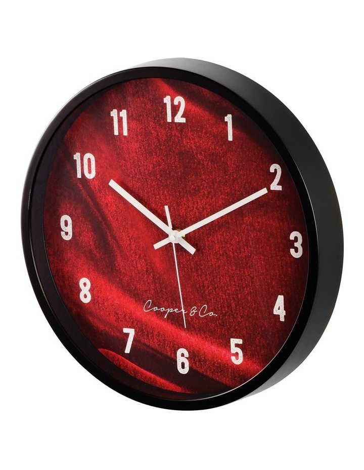 35cm Burgundy Vogue Silent Movement Round Wall Clock image 4