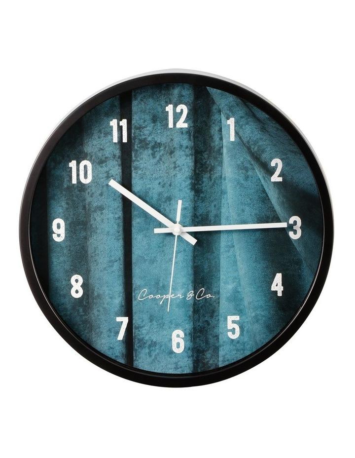 35cm Sea Blue Solomon Silent Movement Round Wall Clock image 1