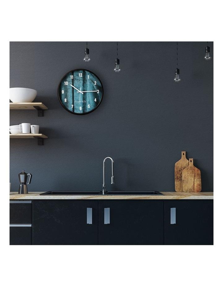 35cm Sea Blue Solomon Silent Movement Round Wall Clock image 2
