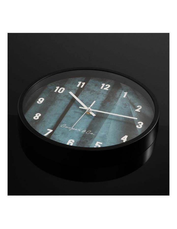 35cm Sea Blue Solomon Silent Movement Round Wall Clock image 3