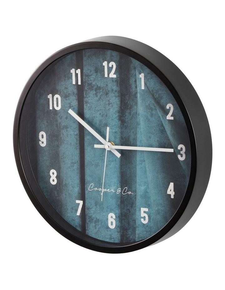 35cm Sea Blue Solomon Silent Movement Round Wall Clock image 4