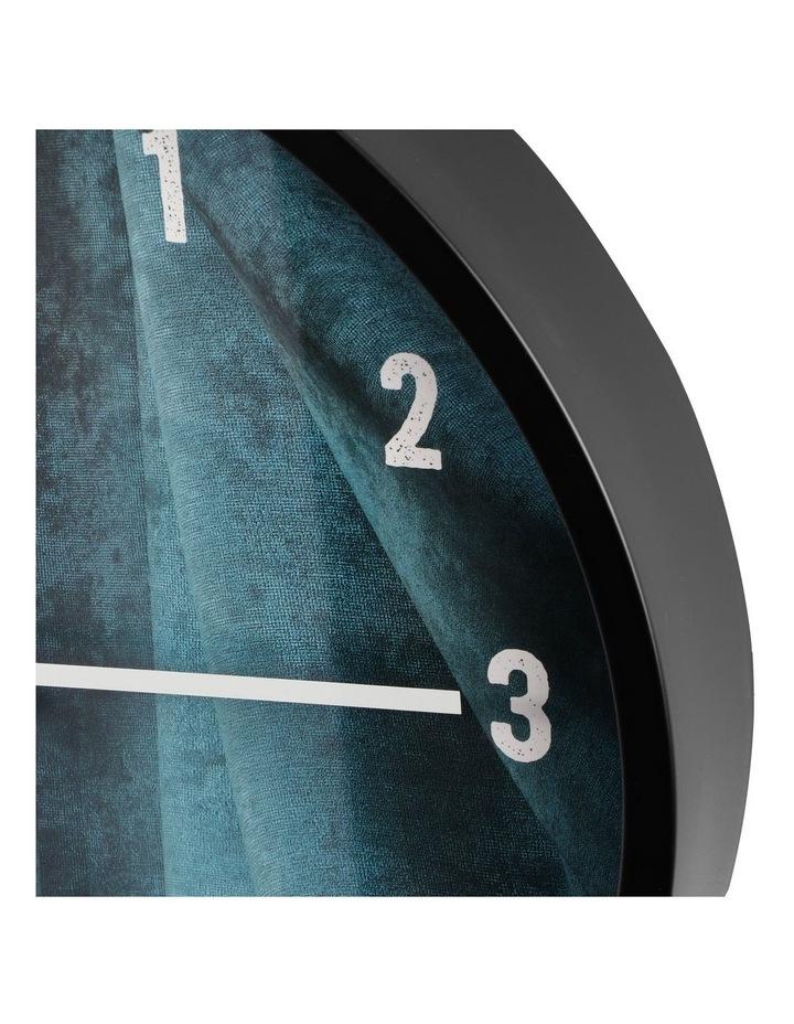 35cm Sea Blue Solomon Silent Movement Round Wall Clock image 5