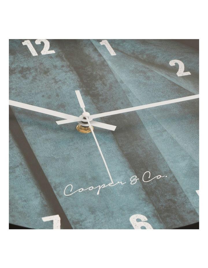 35cm Sea Blue Solomon Silent Movement Round Wall Clock image 7