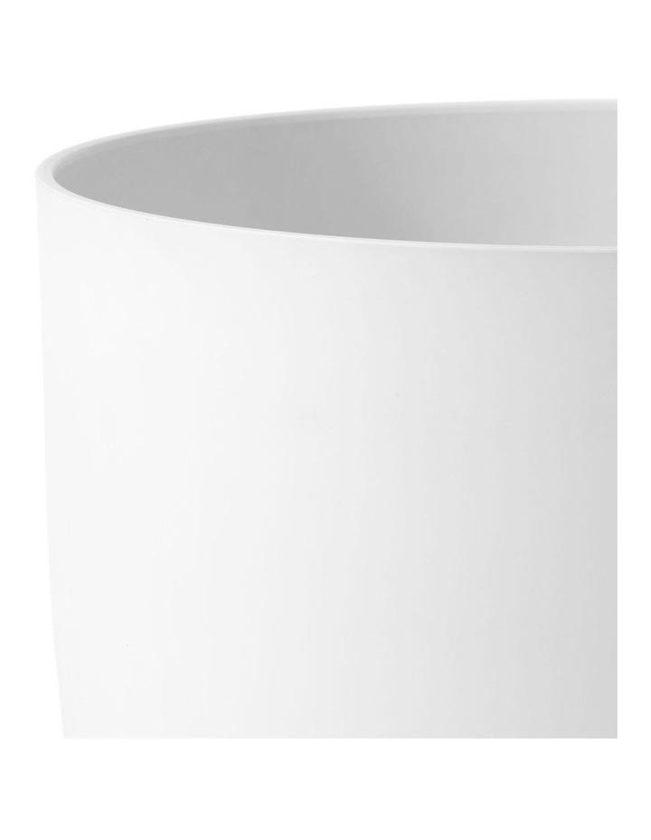 Set of 2 35cm & 28cm Massima White Round Planter Pots image 4