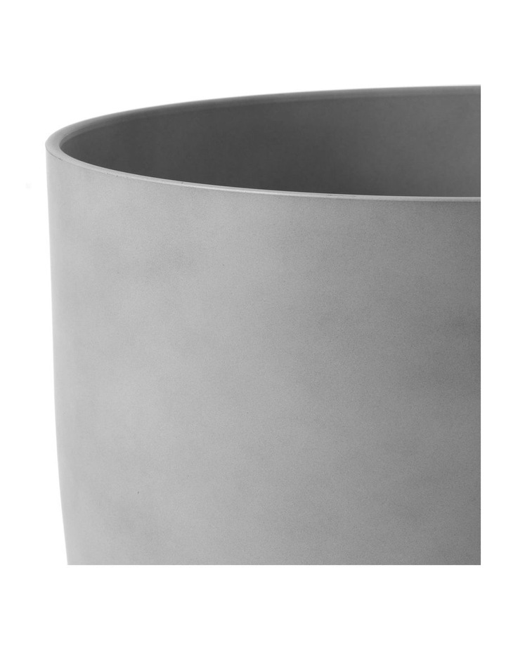 Set of 2 35cm & 28cm Massima Slab Grey Round Planter Pots image 4