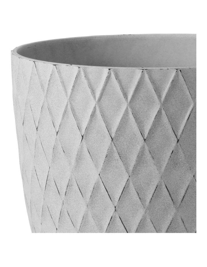 Set of 2 35cm & 27cm Helgrim White Round Planter Pots image 4