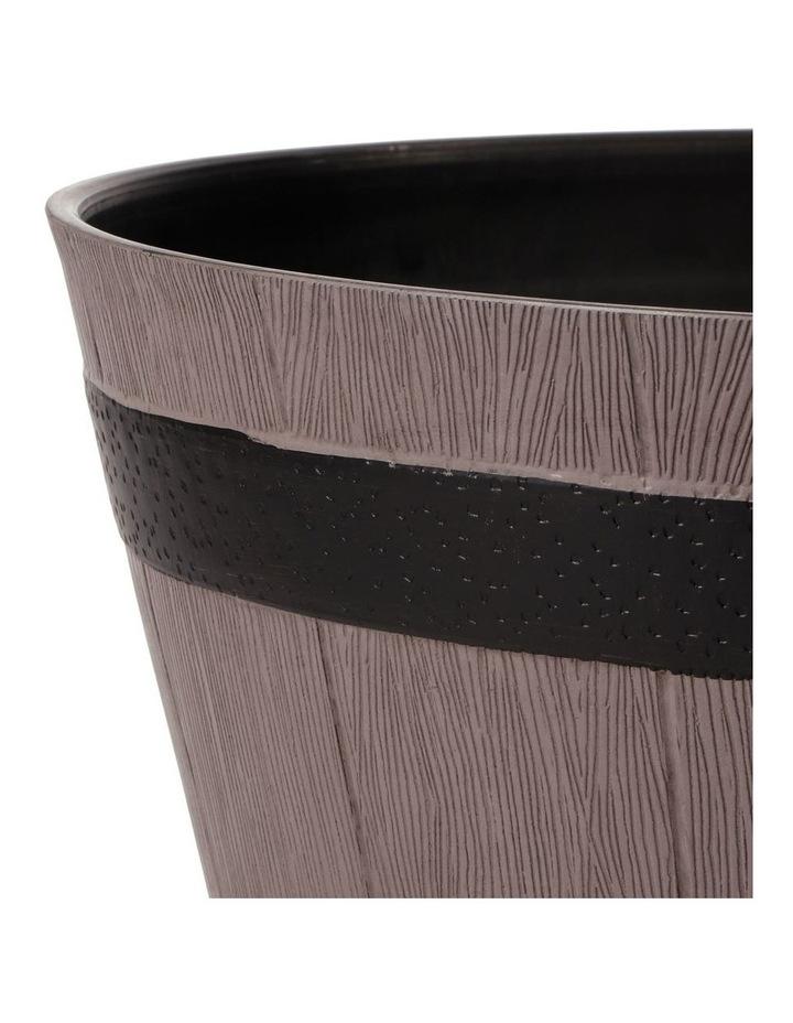 Set of 2 52cm & 38cm Half Barrel Grey Round Planter Pots image 4
