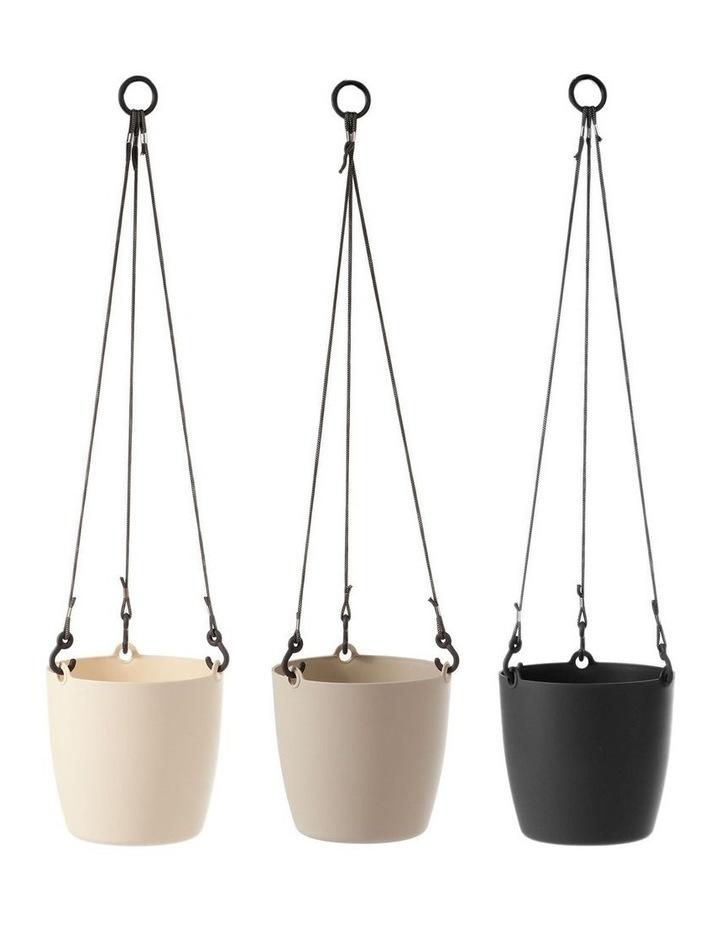 Set of 3 18cm Fuchsia Round Hanging Planter Pots image 1