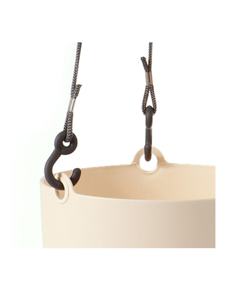 Set of 3 18cm Fuchsia Round Hanging Planter Pots image 6