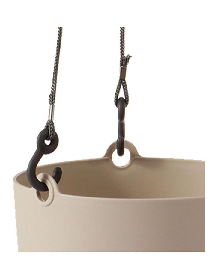 Set of 3 18cm Fuchsia Round Hanging Planter Pots image 7