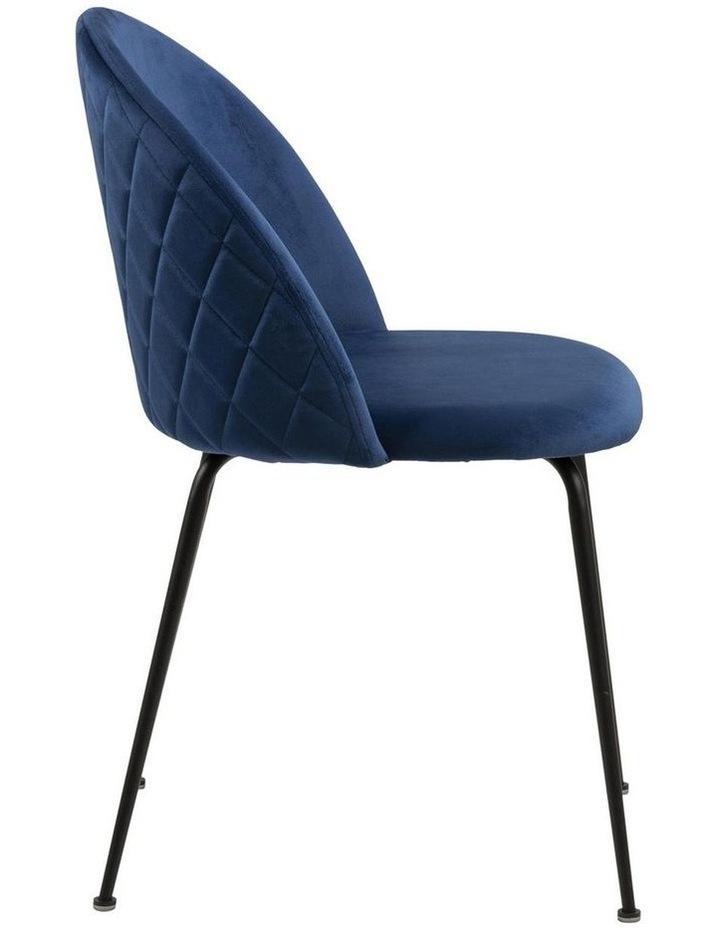 Living Set of 2 Luna Dining Chair Dark Blue image 3