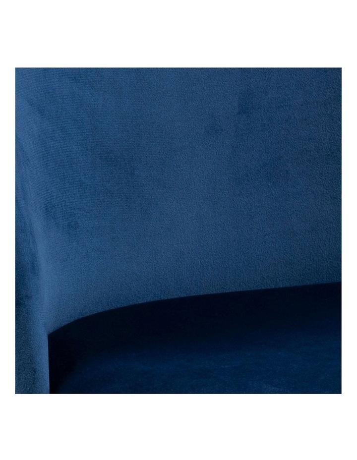 Living Set of 2 Luna Dining Chair Dark Blue image 4