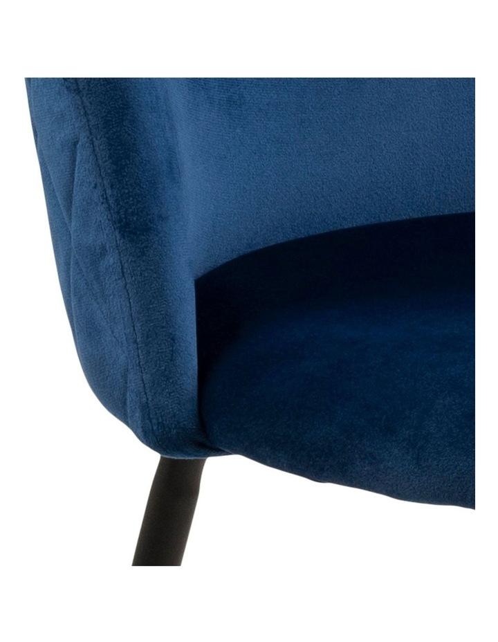 Living Set of 2 Luna Dining Chair Dark Blue image 6