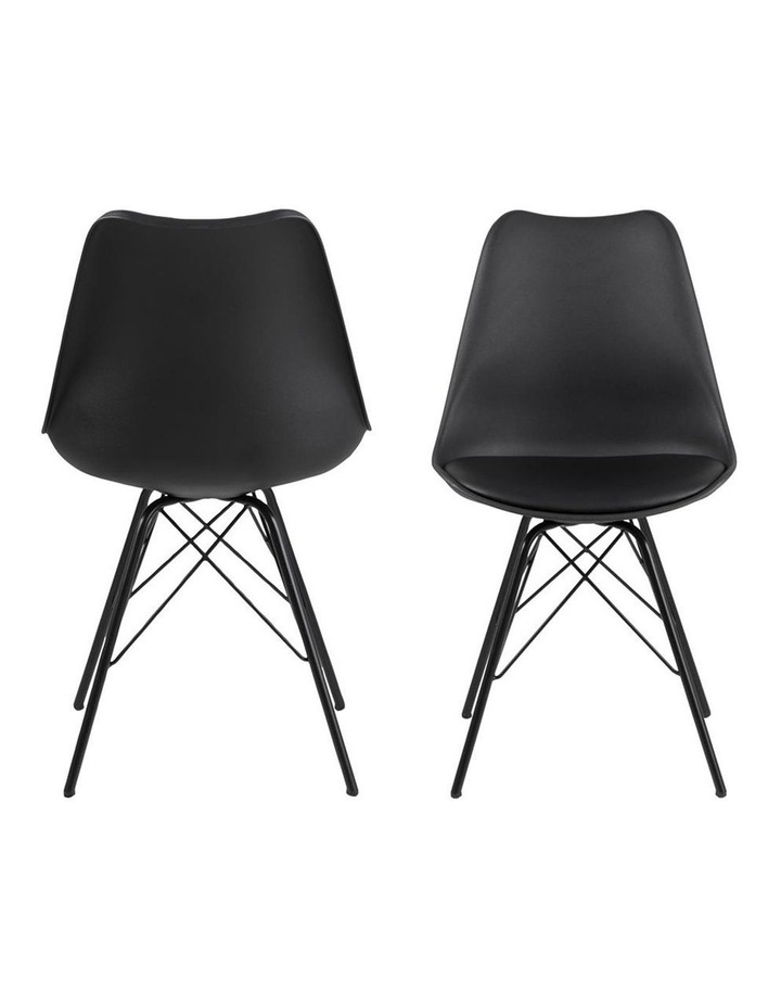 Living Set of 2 Piper Dining Chair Black image 2