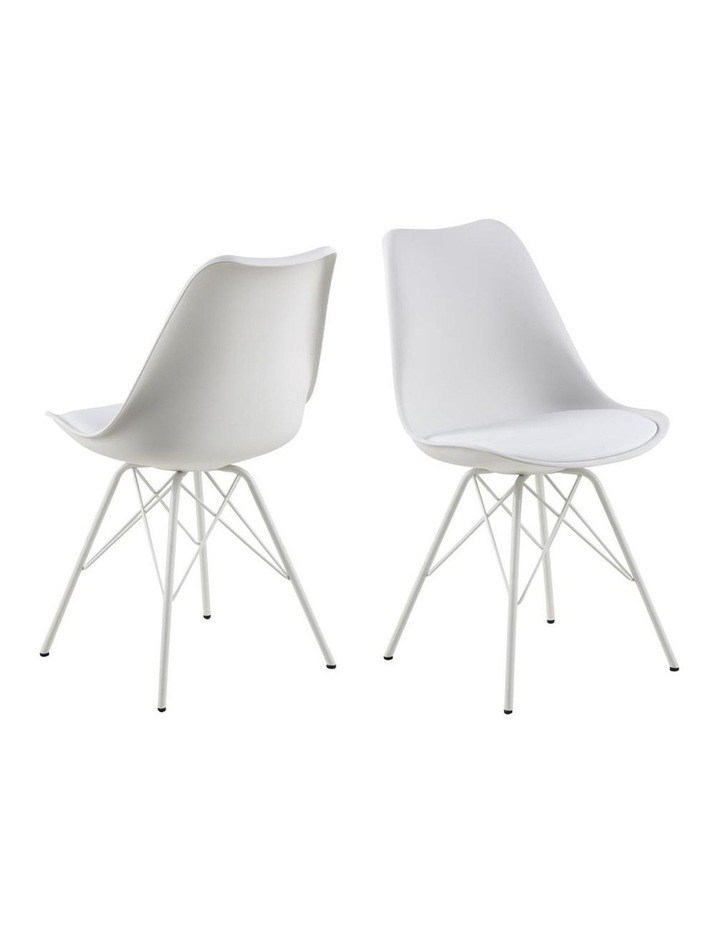 Living Set of 2 Piper Dining Chair White image 1