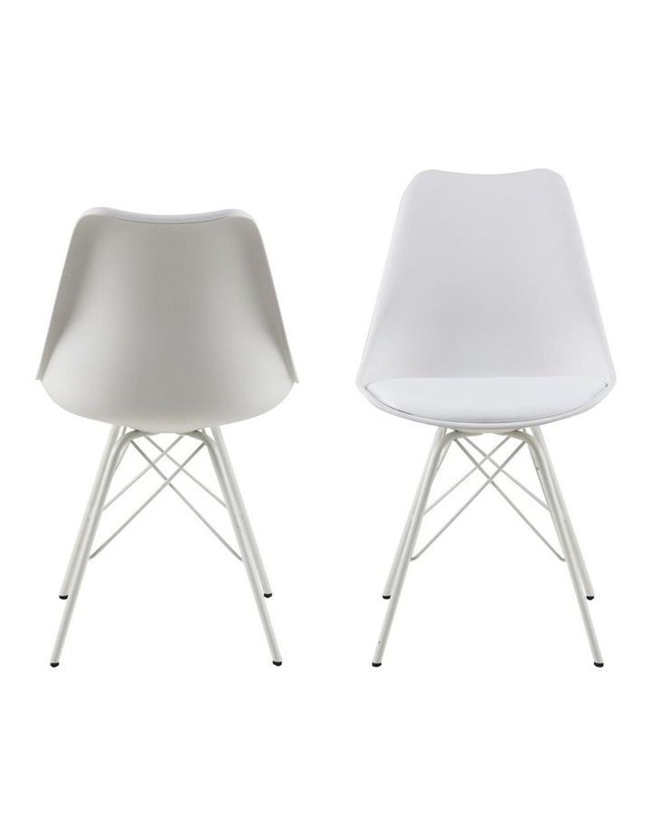 Living Set of 2 Piper Dining Chair White image 2