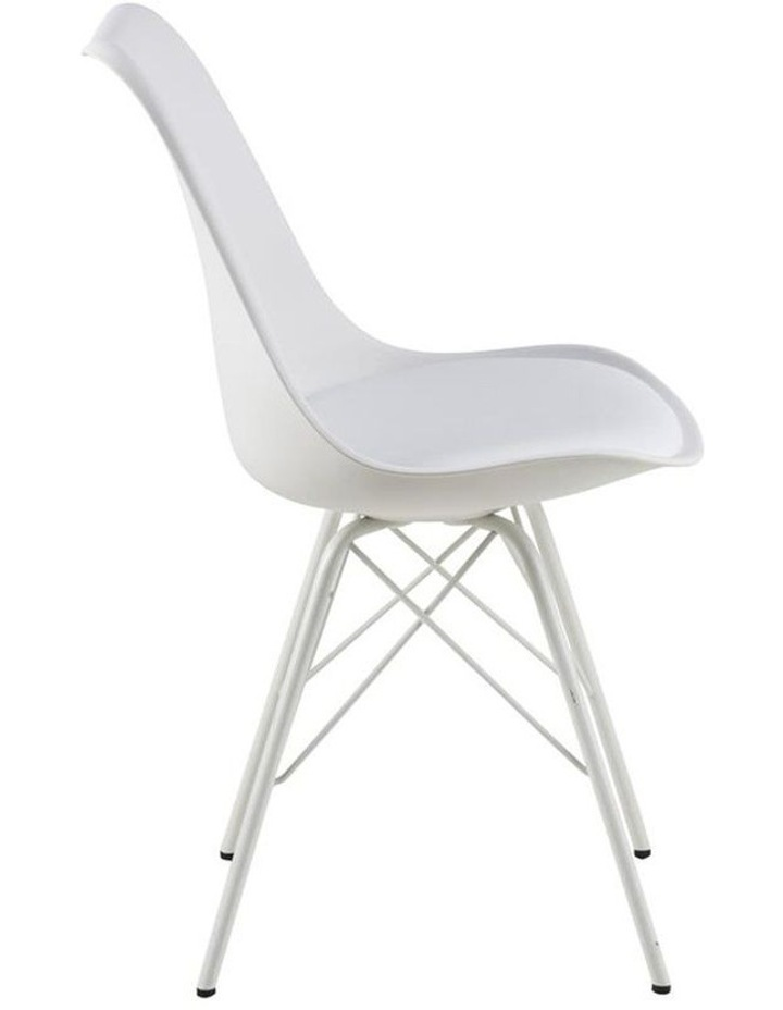 Living Set of 2 Piper Dining Chair White image 3