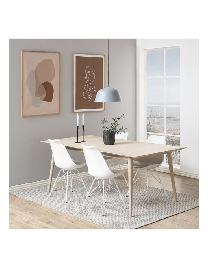 Living Set of 2 Piper Dining Chair White image 4