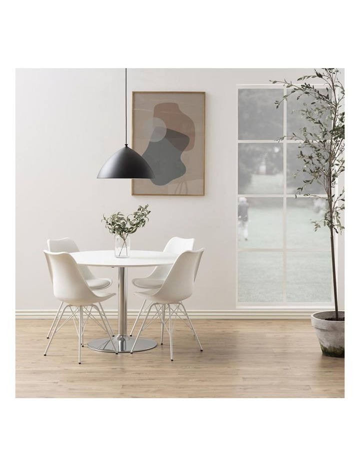 Living Set of 2 Piper Dining Chair White image 5