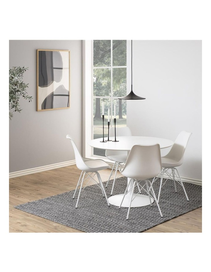 Living Set of 2 Piper Dining Chair White image 6