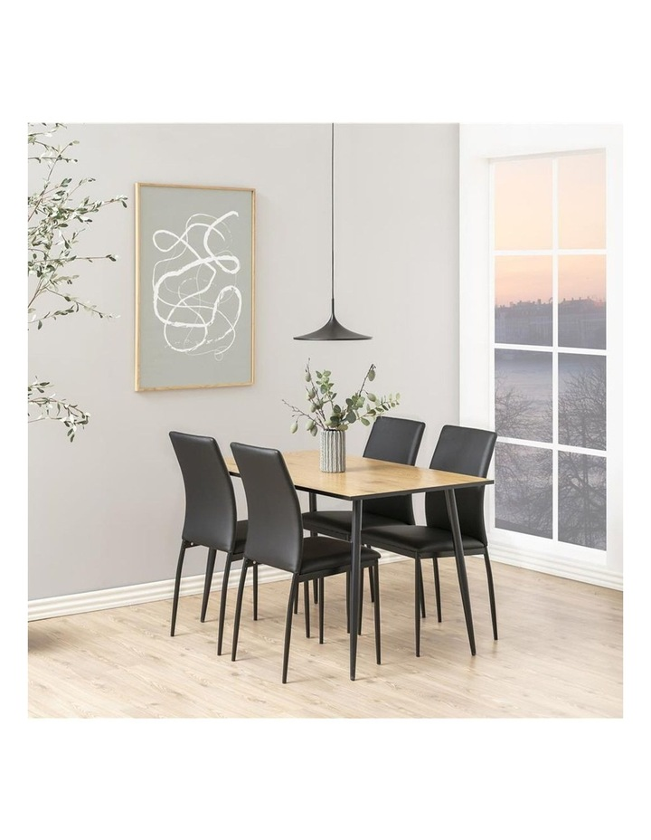 Living Set of 4  Emily Dining Chair Black Faux Leather image 5