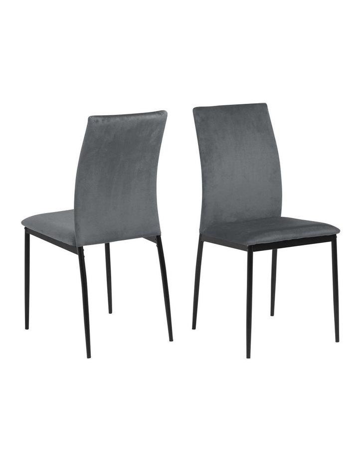 Living Set of 4  Emily Dining Chair Dark Grey image 1