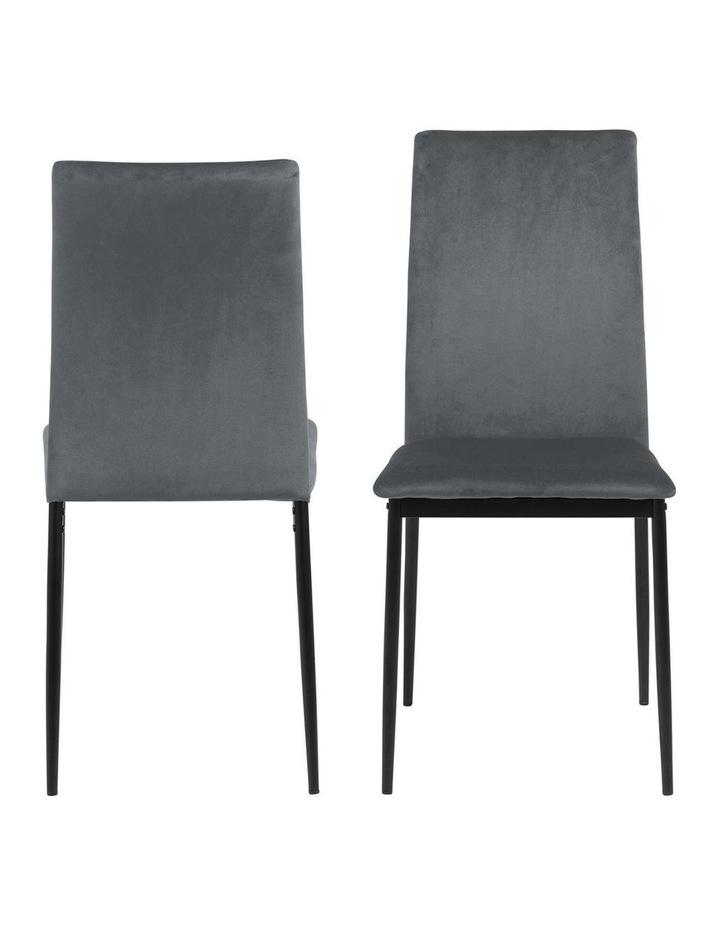 Living Set of 4  Emily Dining Chair Dark Grey image 2