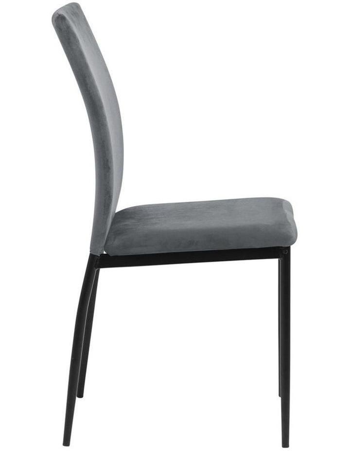 Living Set of 4  Emily Dining Chair Dark Grey image 3