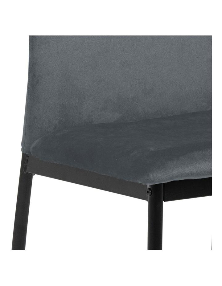 Living Set of 4  Emily Dining Chair Dark Grey image 4