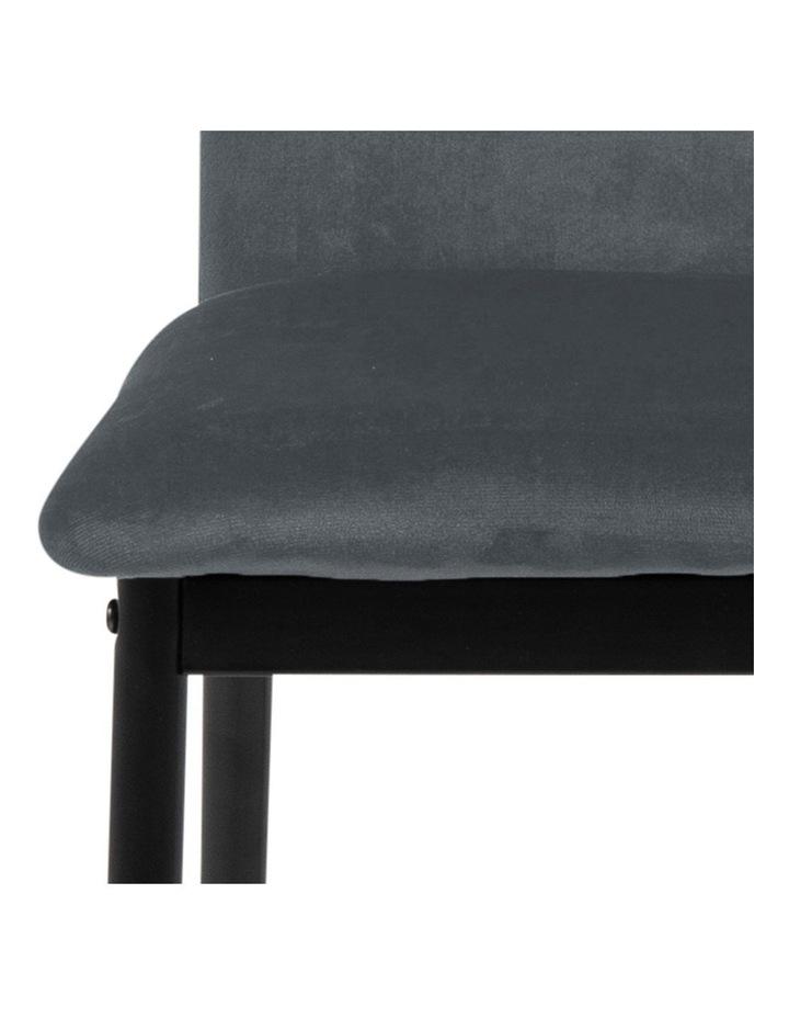 Living Set of 4  Emily Dining Chair Dark Grey image 7