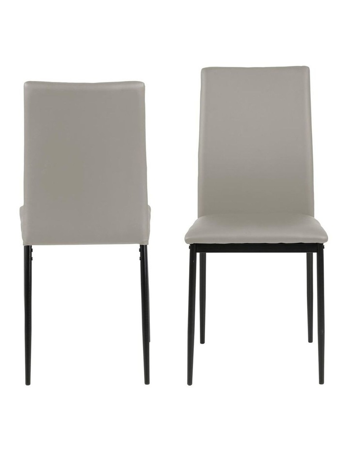 Living Set of 4  Emily Dining Chair Taupe image 2