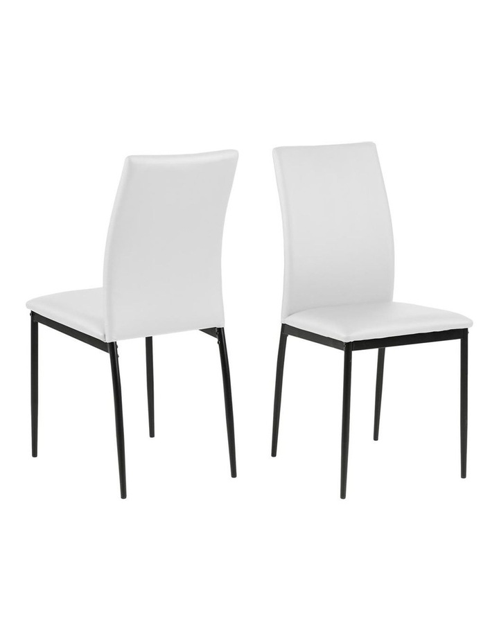 Living Set of 4  Emily Dining Chair White image 1