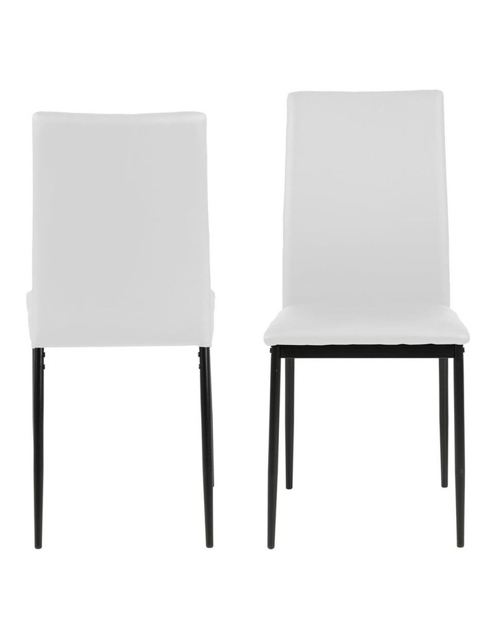 Living Set of 4  Emily Dining Chair White image 2